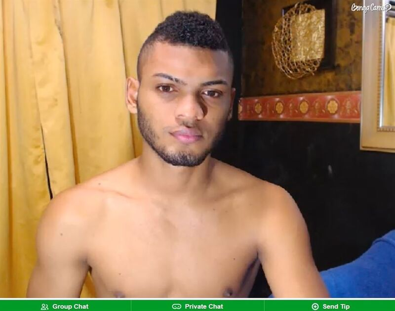 Ebony god smouldering for his guests on BongaCams