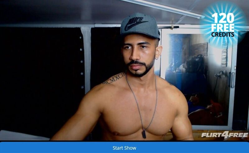 Hot Latino model and his partner gearing up for a show on Flirt4Free