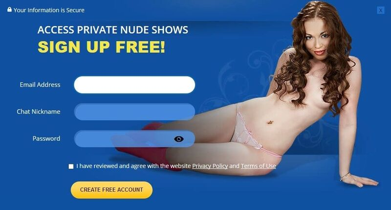 Easy sign-up process at Flirt4Free gets you immediate access to free sex chat